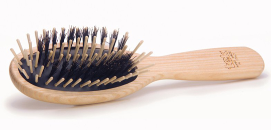 TEK Naturhaarbürste Mixer - Mit Holzstiften und Wildschweinborsten